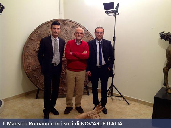 Alessandro Romano con i soci di NOV'ARTE ITALIA